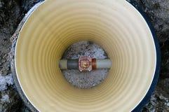 Axe d'eaux d'égout Photos libres de droits