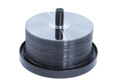 Axe de CD/DVD - bleu modifié la tonalité Photos libres de droits