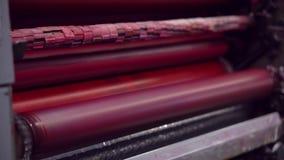 Axe de roulement de couleur rouge clips vidéos
