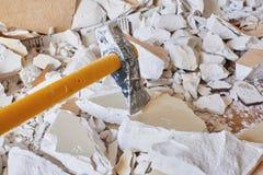 Axe demolition material Stock Photo