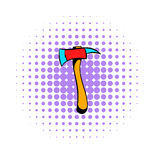 Axe for a firefighter icon, comics style. Axe for a firefighter icon in comics style on a white background Stock Image