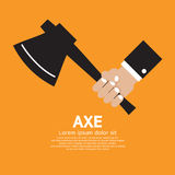 Axe In Hand Royalty Free Stock Photography