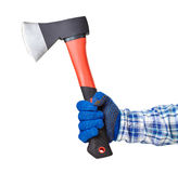 Axe in hand Royalty Free Stock Image