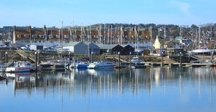 Axe Harbour in Seaton. East Devon Royalty Free Stock Image