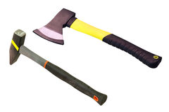 Axe and hummer Royalty Free Stock Photography