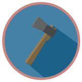 Axe. Icon, axe in flat design Stock Image