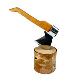 Axe And Log Royalty Free Stock Image