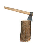 Axe and log Royalty Free Stock Photos