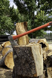 Axe in log stump Royalty Free Stock Photography