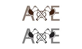 Axe logo Royalty Free Stock Photos