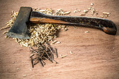 Axe old tool Stock Photography