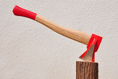 Axe on stem Royalty Free Stock Photo