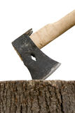 Axe and stump 1 Royalty Free Stock Images