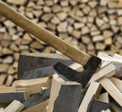 Axe in the stump Royalty Free Stock Photography