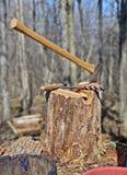 Axe in Stump Stock Photos