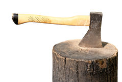 Axe in a stump Royalty Free Stock Photography