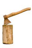 axe on stump Stock Photography