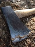 Axe on stump Royalty Free Stock Photography