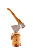 Axe toy in stump Stock Images
