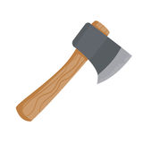 Axe for travaling or camping illustration in flat style. Cartoon axe in simple flat style Stock Photos