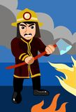 The Axe Wielding Fireman Stock Images