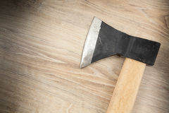Axe with wooden  handle Stock Photo