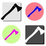 axel Плоский значок вектора бесплатная иллюстрация