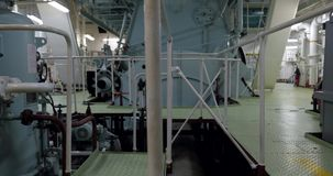 Axel av skeppströmförsörjningsmotorn stock video
