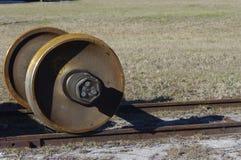 Axel do carro de trilho Fotografia de Stock