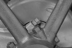 Axel för tappningmotorhjul royaltyfri bild