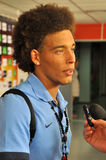 Axel Witsel answer the questions Stock Photo