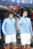 Axel Witsel and Ezequiel Garay  Bayer 04 Leverkusen v Zénith Saint-Pétersbourg Champion League Stock Image
