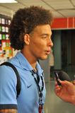 Axel Witsel giving an interview Royalty Free Stock Photography