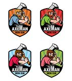 Axeman盾商标 向量例证