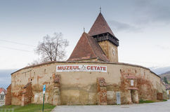 Axente Sever Fortified Church Stock Photography