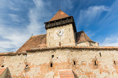Axente Sever, Transylvania. Fortified church of Axente Sever, Transylvania, Romania Royalty Free Stock Images