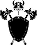 axes экран viking шлема иллюстрация вектора