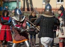 Axes battle Stock Photography