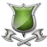 Axes and shields Stock Images