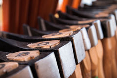 Axes in the store Royalty Free Stock Image
