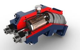axiell hydraulisk pistongpump arkivbild