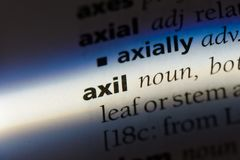 Axil. Word in a dictionary.  concept stock photos