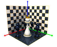Axis of chess queen Stock Photo
