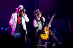 Axl Rose en Chris Pitman Royalty-vrije Stock Fotografie