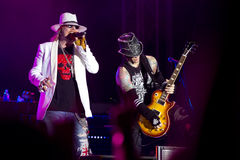 Axl Rose et mineur de Chris Image stock