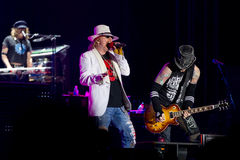 Axl Rose et mineur de Chris Photographie stock