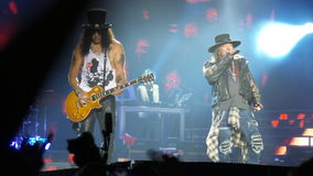 Axl rose and slash  Guns n Roses 2016 Santiago Chile Royalty Free Stock Photo