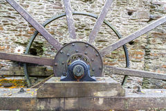 Axle and spokes of water wheel. Royalty Free Stock Image
