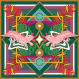 Axolotl messicano della stampa Fotografie Stock