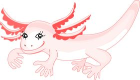 Axolotl (Mexican salamander) Royalty Free Stock Photos